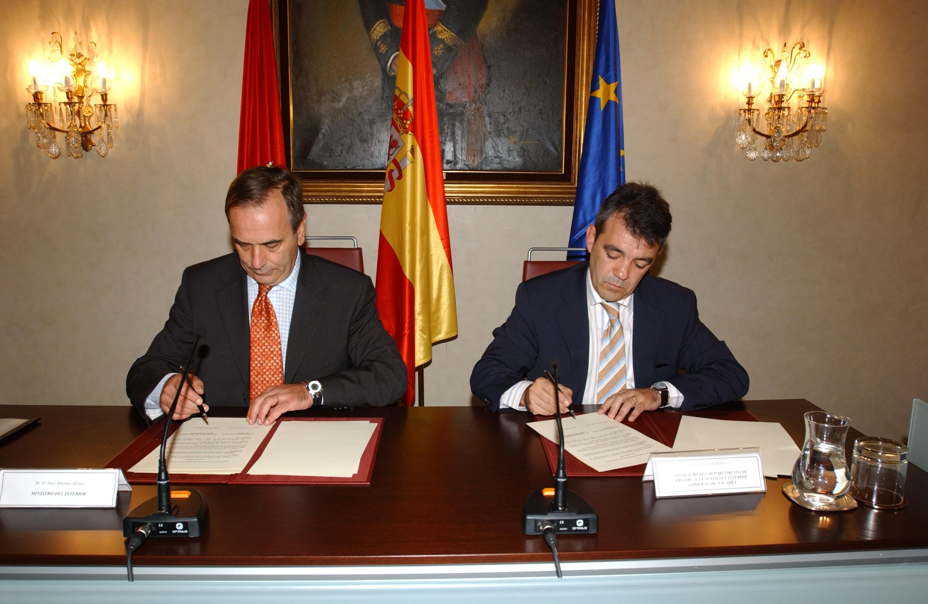 Acuerdo del gobierno de navarra y el ministerio del for Nuevo ministro de interior y justicia