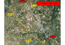 Restricción al tráfico pesado por la N-121-C (Tudela-Tarazona) y habilitado enlace en la AP-15