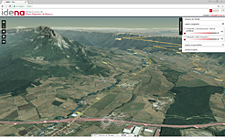 Título: Vista de San Donato, las carreteras de su entorno y la red hidrográfica - Descripción: Vista de San Donato, las carreteras de su entorno y la red hidrográfica