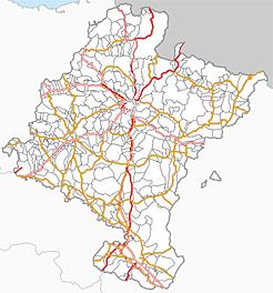 Mapa De Navarra Carreteras.Mejorado El Mapa Base Del Visor Geografico Idena Para Ofrecer Una Interpretacion Mas Completa Del Territorio Foral