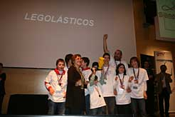 Escolares premiados en la First Lego League