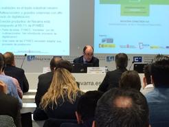 """Ayerdi subraya el """"inmenso reto"""" que tiene Navarra para introducir las tecnologías de la cuarta revolución industrial"""
