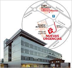 Mapa Pabellones Hospital De Navarra.Desde Las 8 H De Manana Miercoles Todas Las Urgencias De Adultos Del Chn Se Atenderan En El Nuevo Edificio