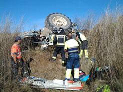 Tractorista herido en Lerin