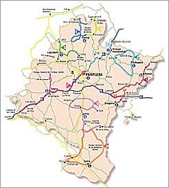 Mapa De Navarra Carreteras.Cultura Y Turismo Publica Un Triptico Con Diez Rutas Que Abarcan La Variedad Paisajistica Y Monumental De Navarra