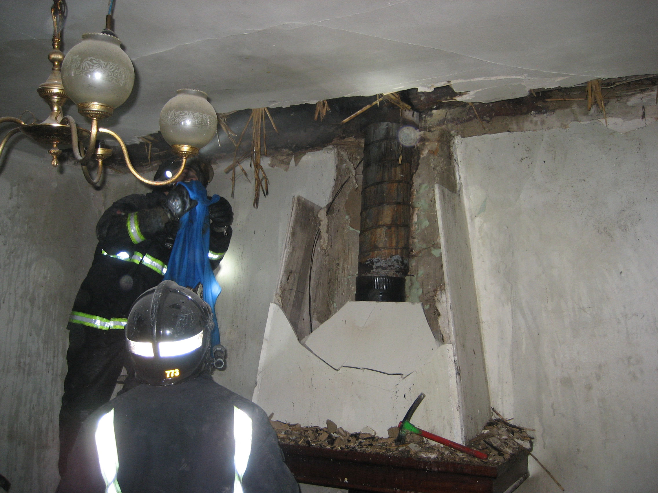 El incendio de la chimenea de una casa de caparroso afecta - Estructuras de chimeneas ...