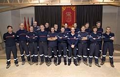 del curso de ascenso a cabo de bomberos en la escuela de seguridad de