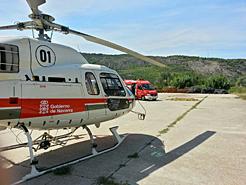 Helicóptero medicalizado que hasta ahora prestaba el servicio.