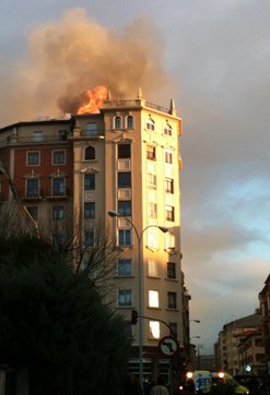 Incendio Pamplona