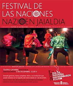 Cartel anunciador del Festival de las Naciones.