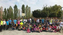 Más de 120 personas limpian en auzolan río Sadar y recogen 450 kilos residuos