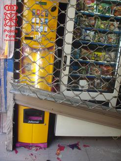 Policía Foral detiene a un hombre en Tudela por forzar máquinas expendedoras