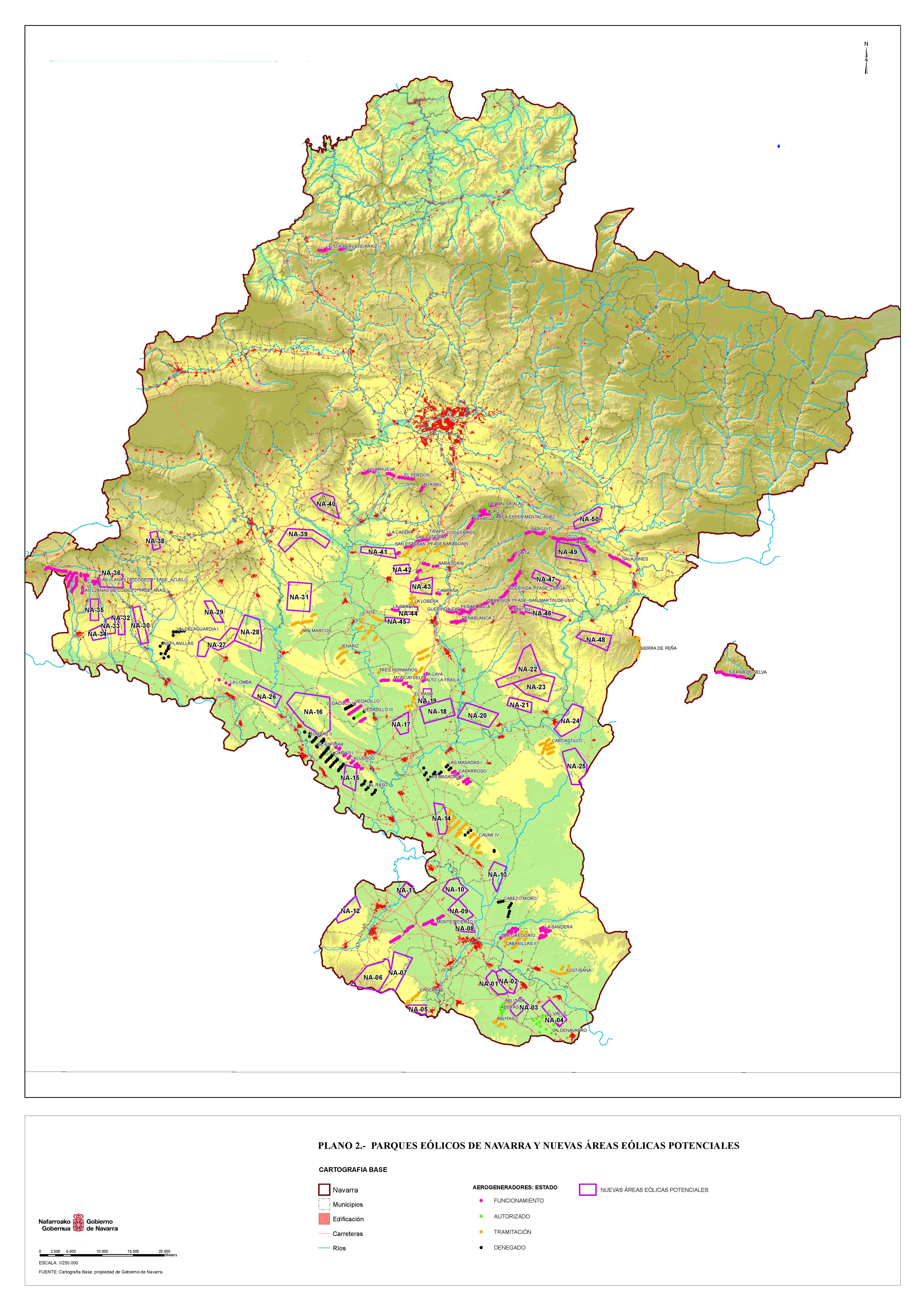 Energias Renovables Mapa De Acogida Eolica De Navarra Navarra Es