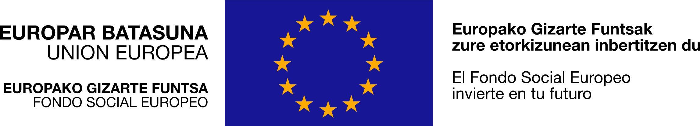 Resultado de imagen de fondo social europeo logo europar batasuna europako gizarte funtsa