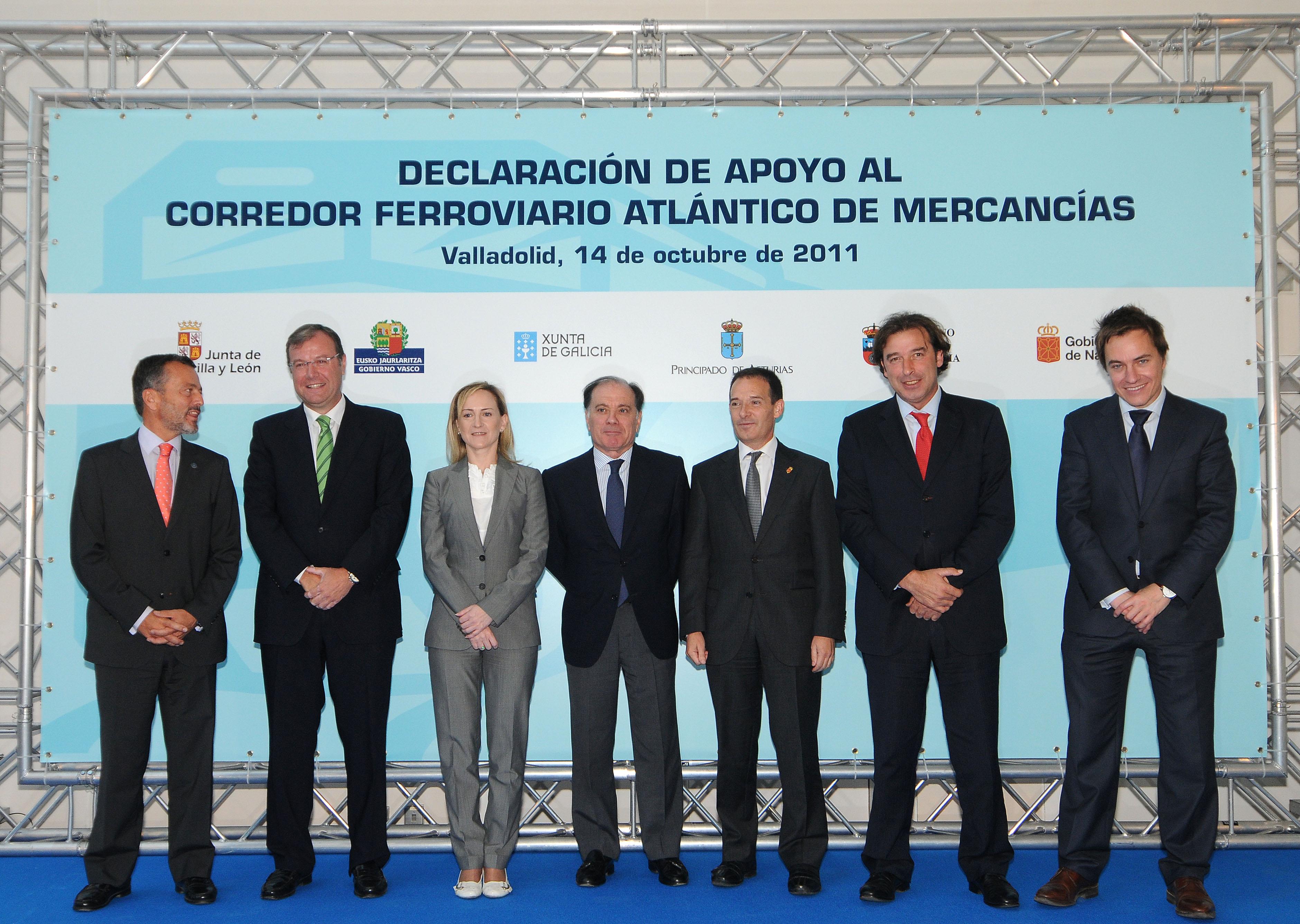El Gobierno de Navarra muestra su apoyo al Corredor Ferroviario Atlántico de Mercancías