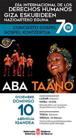cartel concierto africano