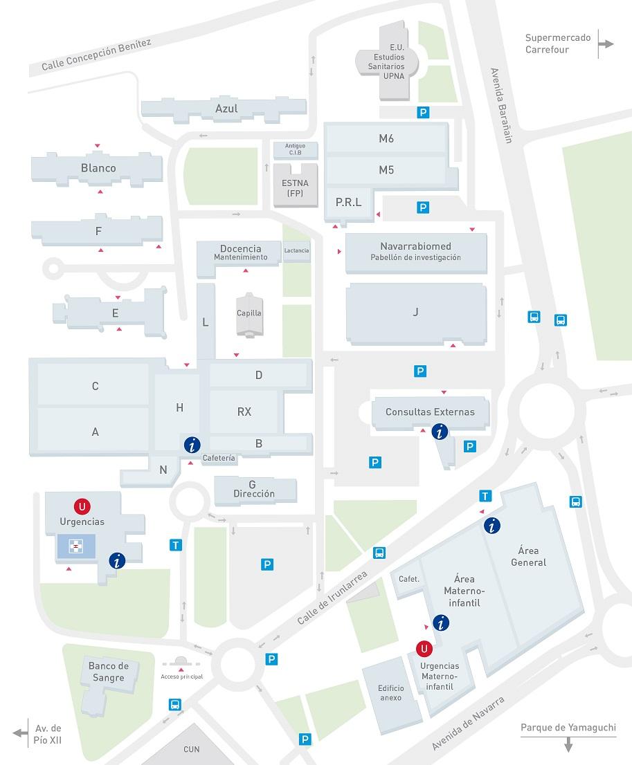 Mapa hospital