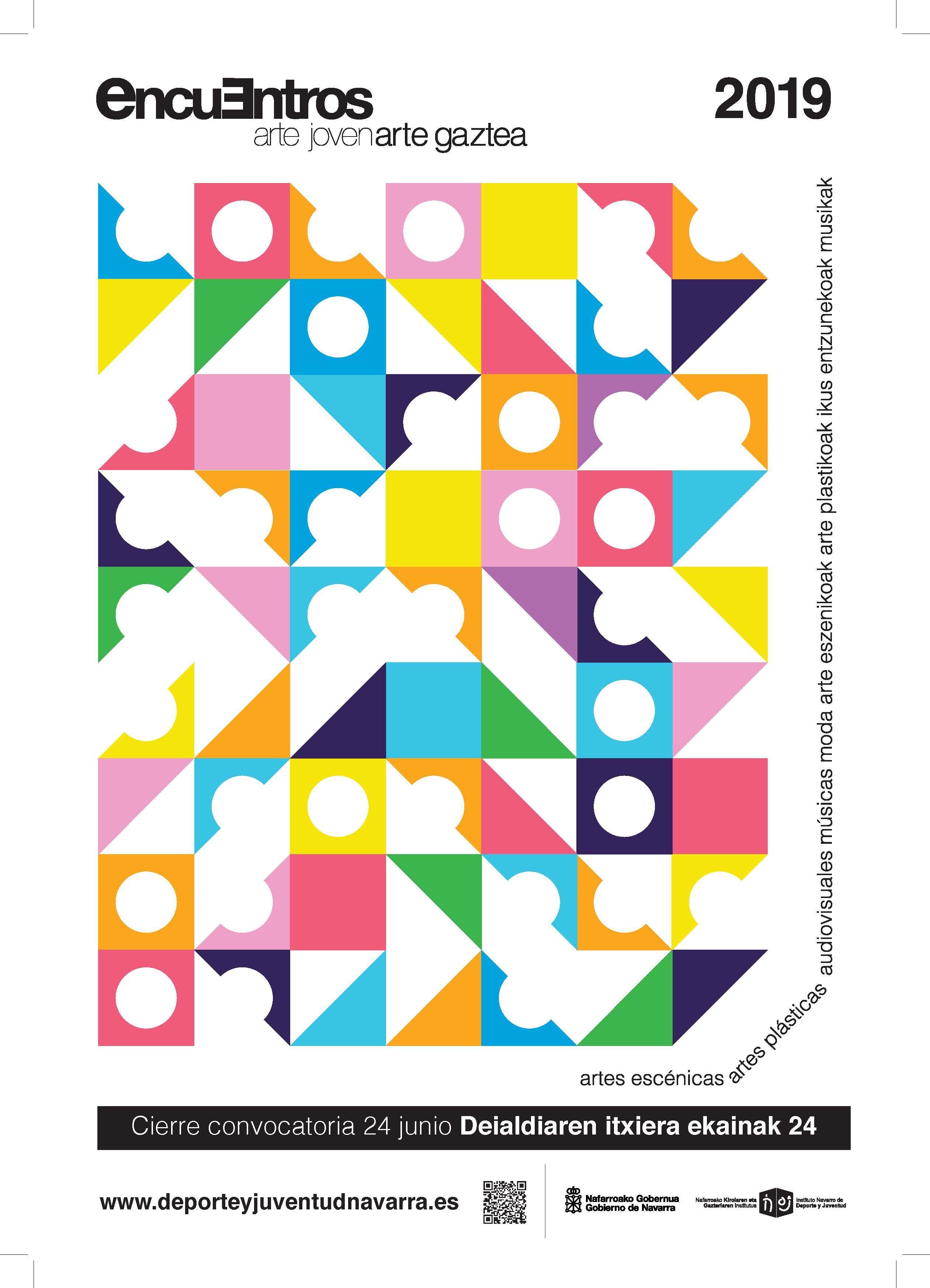 Cartel de Encuentros de Arte Joven 2019