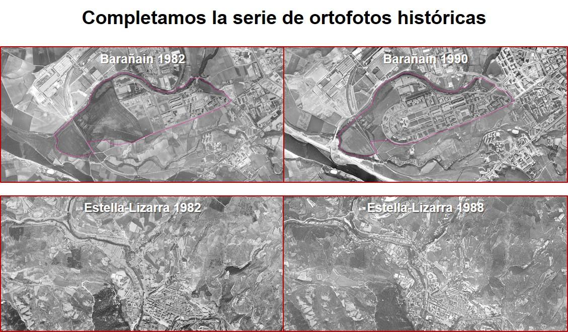 Completada la serie de ortofotos históricas de Navarra