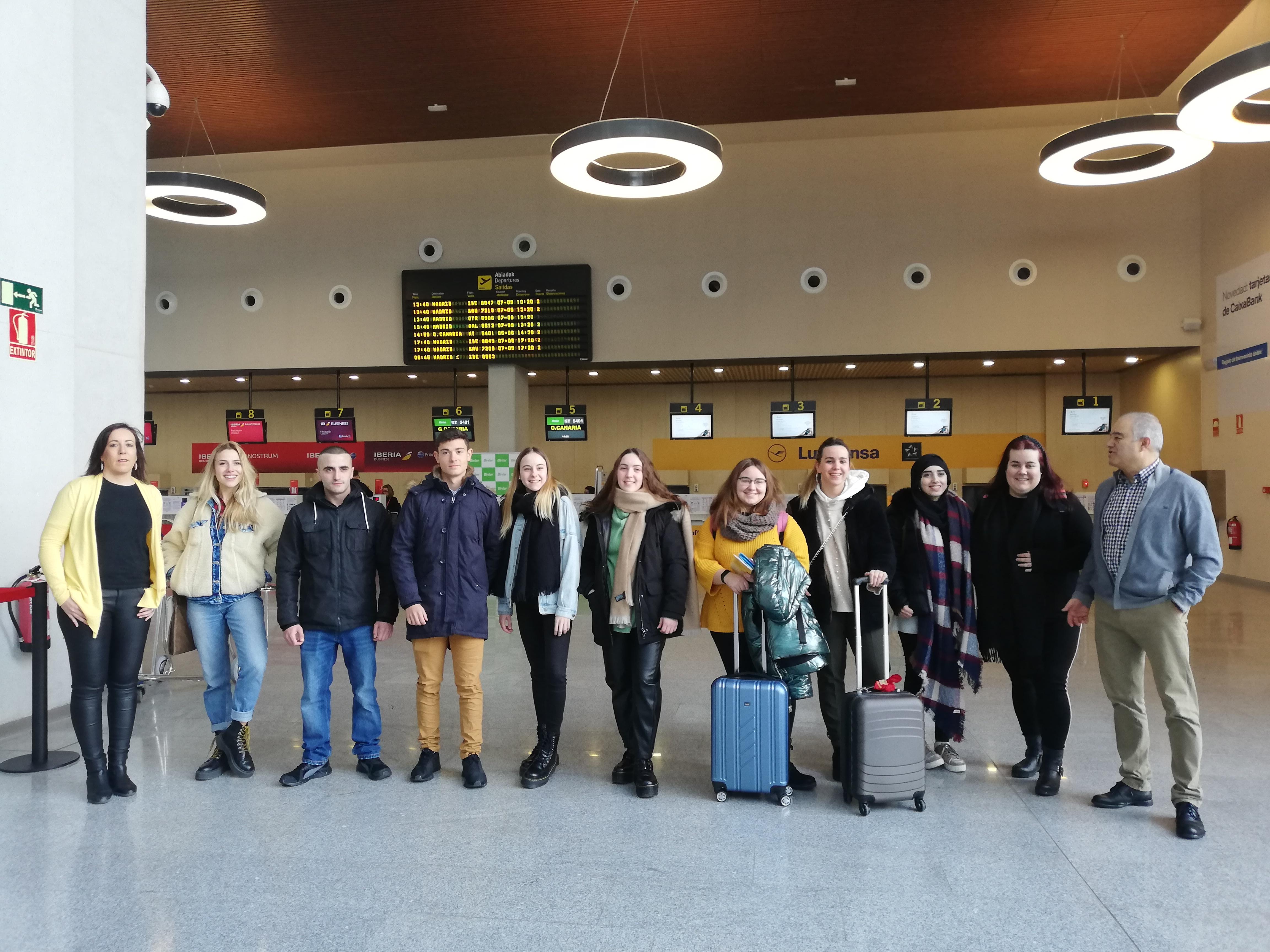 Alumnado navarro de FP inicia nuevas estancias formativas de larga duración en otros países de la UE