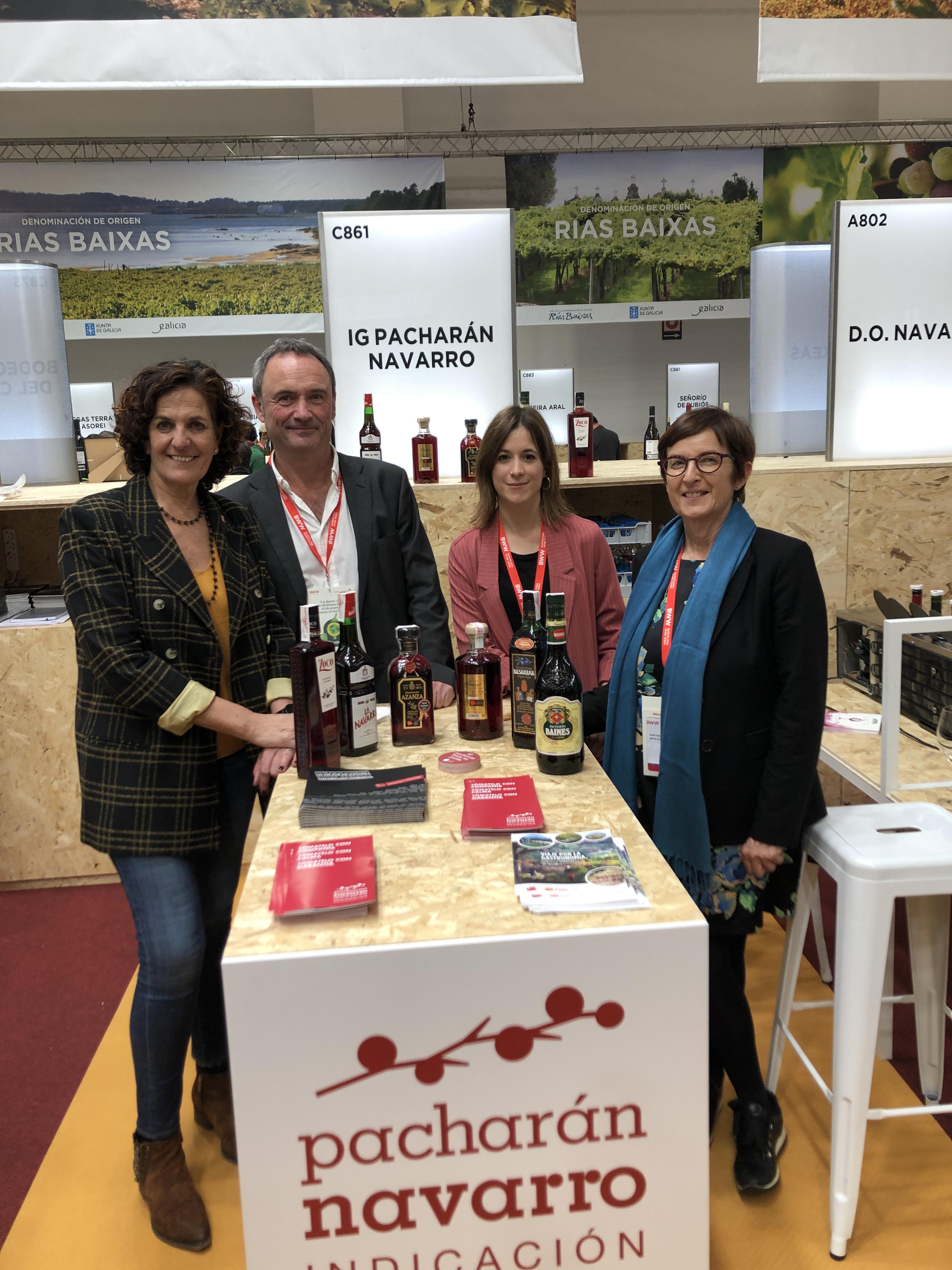 La consejera Gómez apoya al sector vitivinícola navarro presente en la feria internacional Barcelona Wine Week
