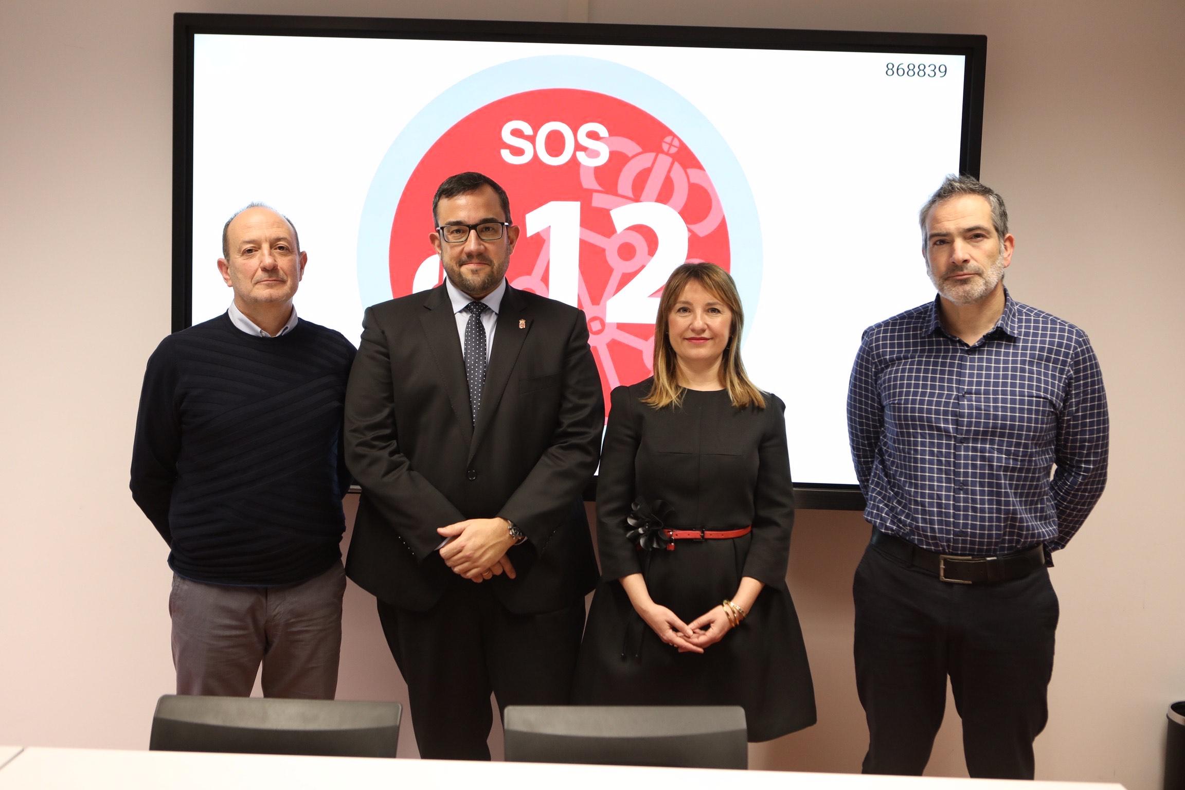 SOS Navarra coordinó la gestión de 333.331 incidentes en 2019, que requirieron 206.070 movilizaciones de servicios de asistencia y socorro
