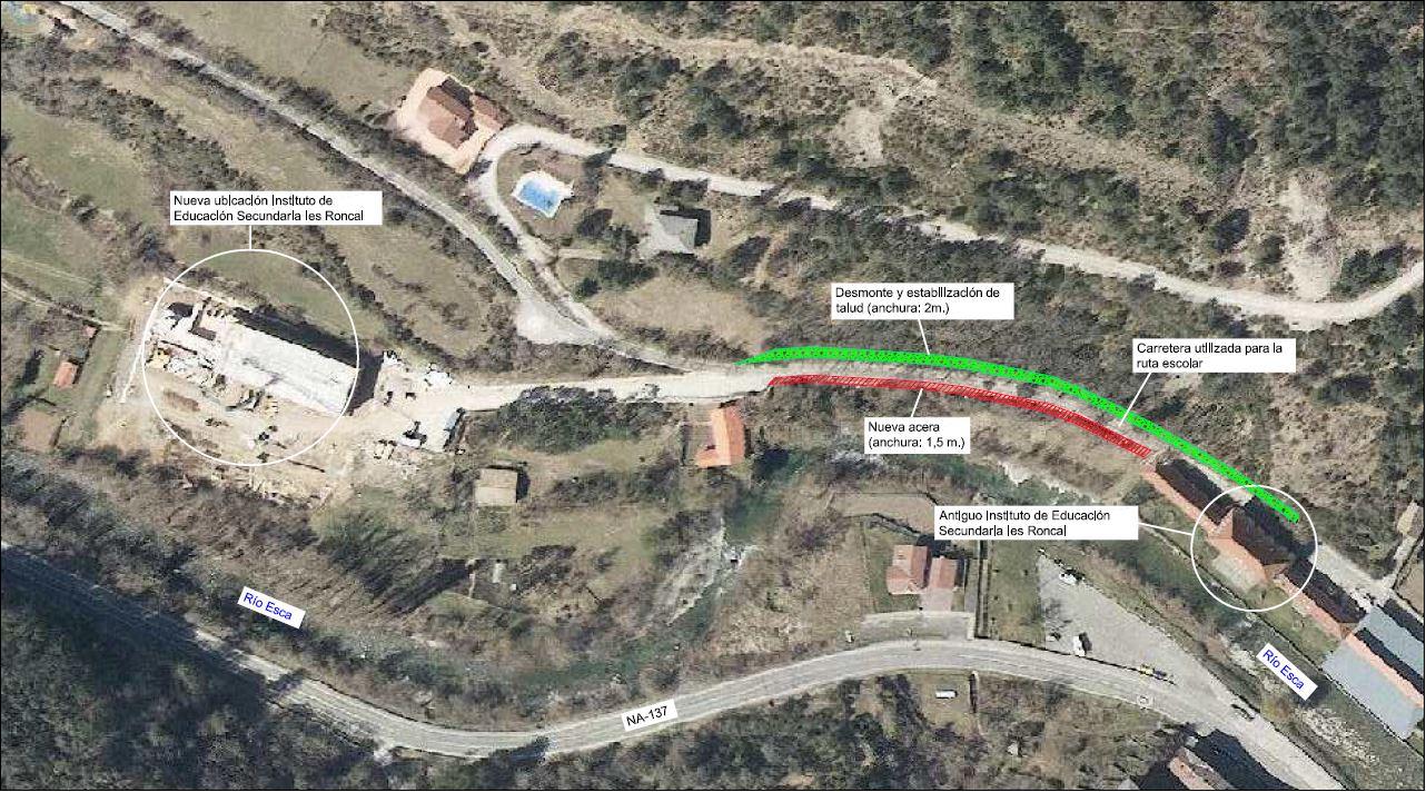El Gobierno de Navarra invertirá 260.000 euros para construir una vía de acceso al nuevo colegio de Roncal