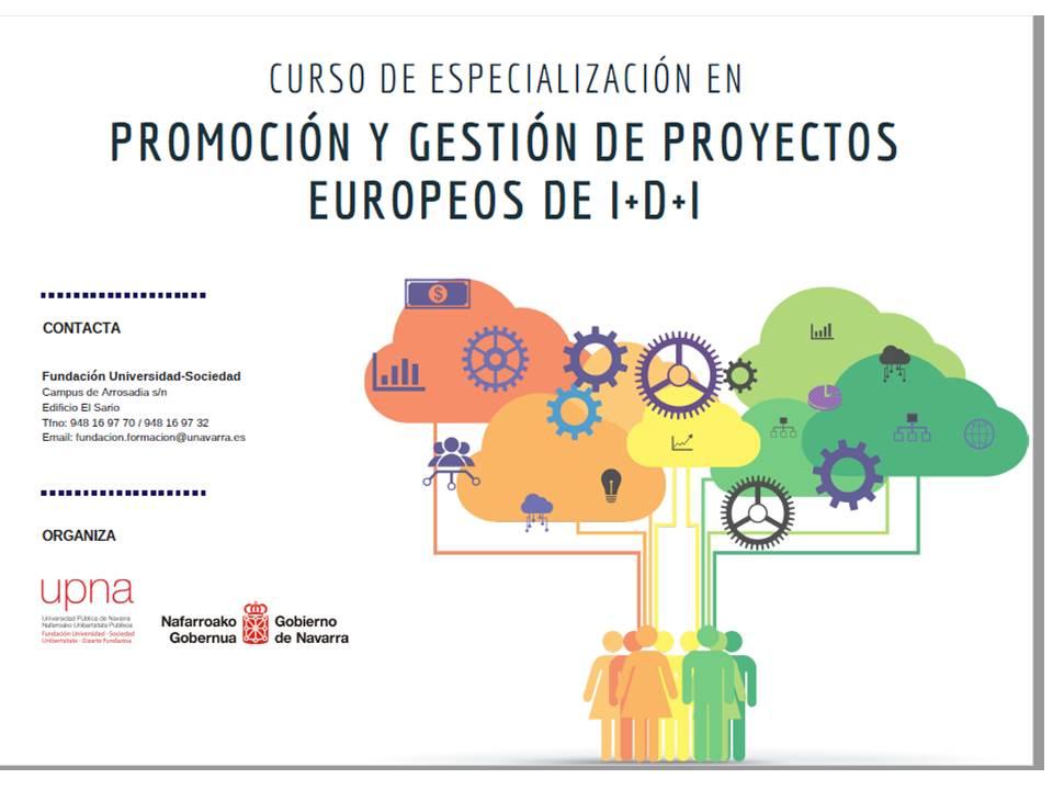 Gobierno de Navarra y UPNA organizan un curso de especialización en gestión de proyectos europeos de I+D+i