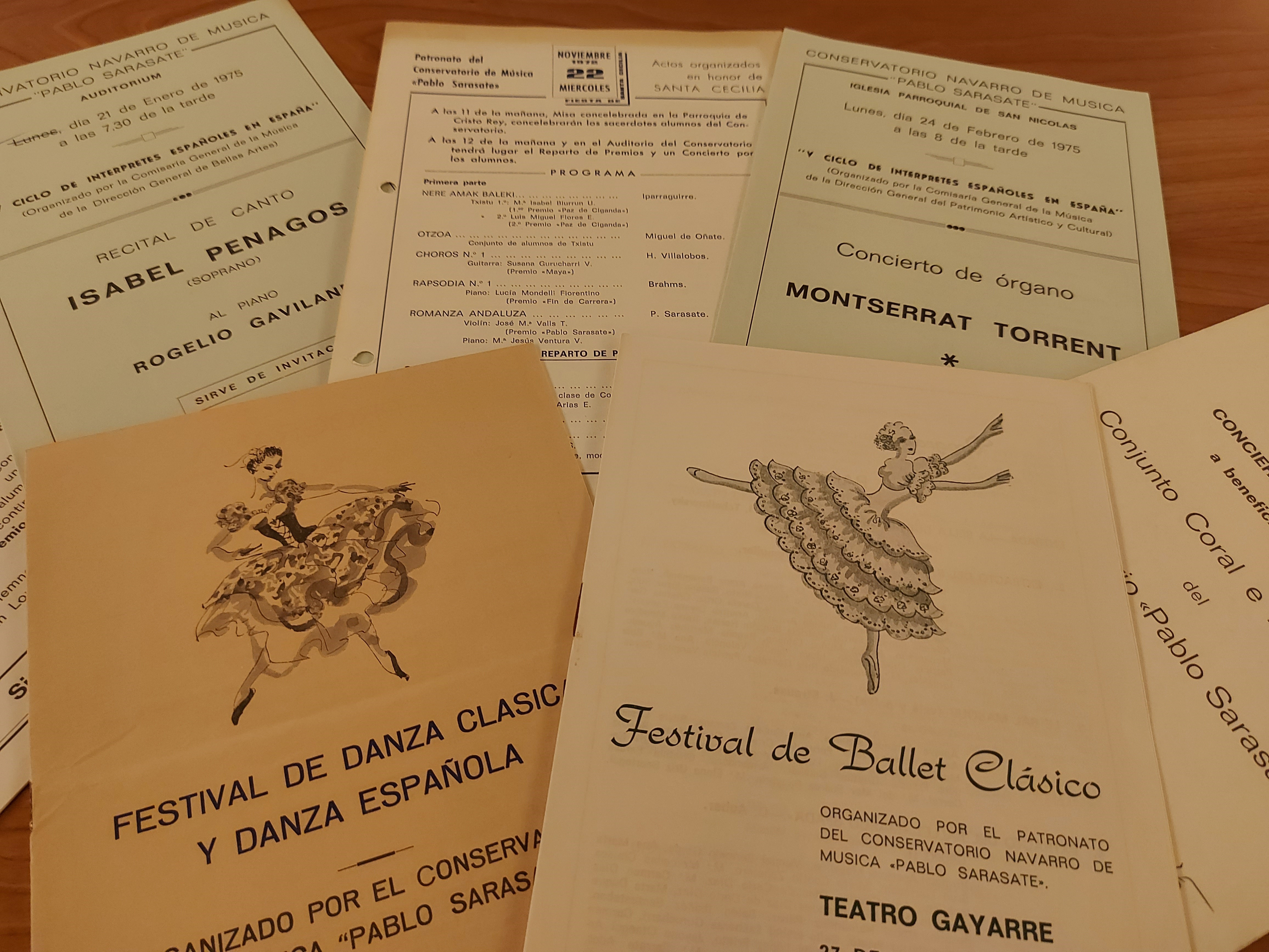El Archivo de Navarra recibe el fondo documental del Conservatorio Pablo Sarasate