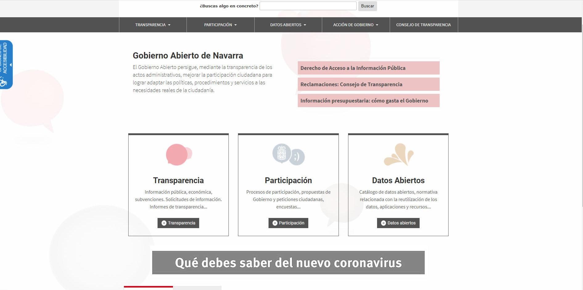 El espacio COVID-19 de la web de Gobierno Abierto recibió más de 700.000 visitas en 2020