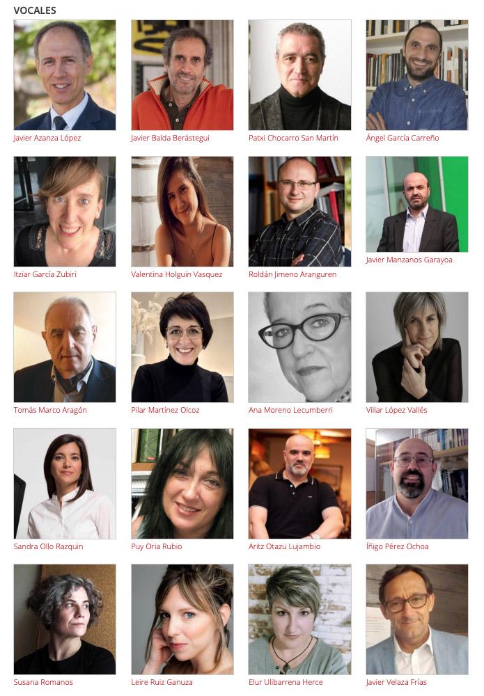 Los 20 vocales que integran el Consejo Navarro de la Cultura y de las Artes.