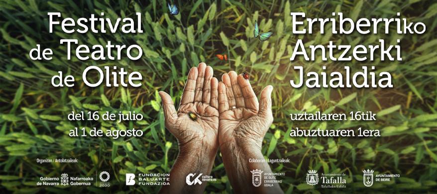 Cartel elaborado para los Festivales de Olite.